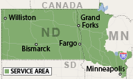Our North Dakota & Minnesota Service Area